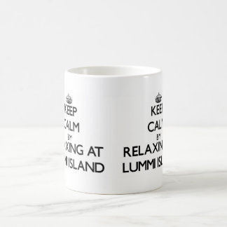 Keep calm by relaxing at Lummi Island Washington Basic White Mug