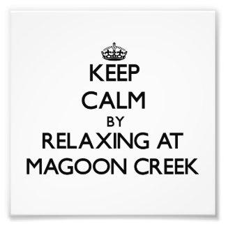 Keep calm by relaxing at Magoon Creek Michigan Art Photo