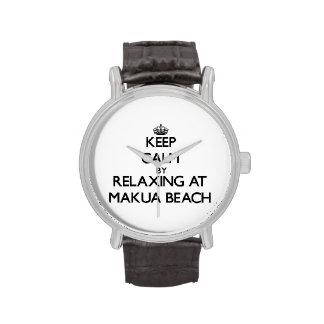 Keep calm by relaxing at Makua Beach Hawaii Watches