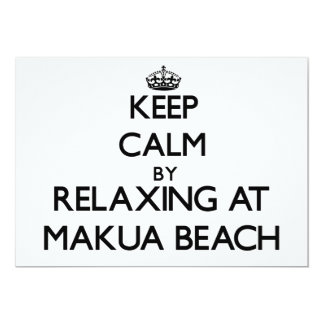 Keep calm by relaxing at Makua Beach Hawaii Cards