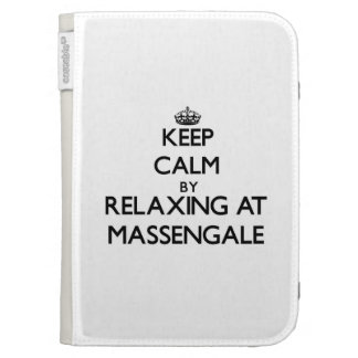 Keep calm by relaxing at Massengale Georgia Kindle Folio Cases