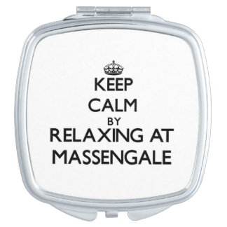Keep calm by relaxing at Massengale Georgia Compact Mirrors