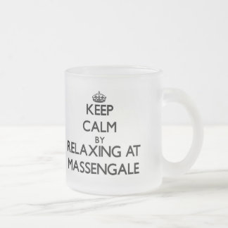 Keep calm by relaxing at Massengale Georgia 10 Oz Frosted Glass Coffee Mug
