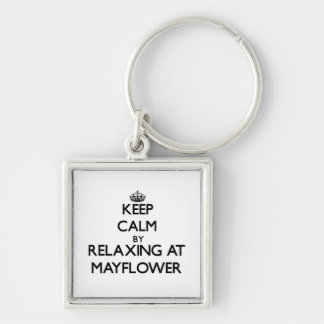 Keep calm by relaxing at Mayflower Massachusetts Keychains
