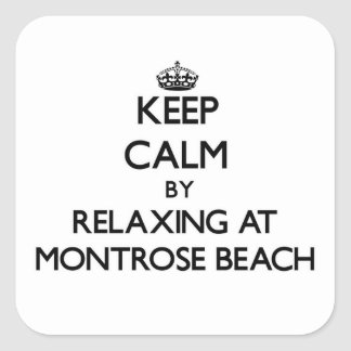 Keep calm by relaxing at Montrose Beach Illinois Sticker