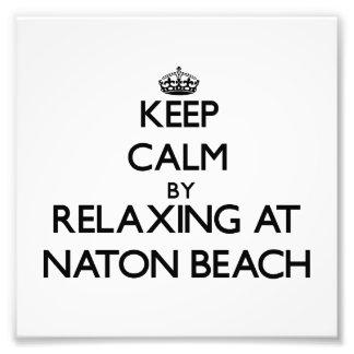 Keep calm by relaxing at Naton Beach Guam Photo Print