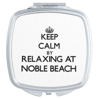 Keep calm by relaxing at Noble Beach Ohio Makeup Mirror