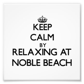 Keep calm by relaxing at Noble Beach Ohio Photo Print