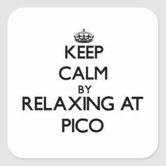 Keep calm by relaxing at Pico Massachusetts Square Sticker