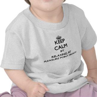 Keep calm by relaxing at Pleasure Point Beach Cali Tshirt
