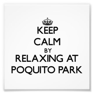 Keep calm by relaxing at Poquito Park Florida Photographic Print