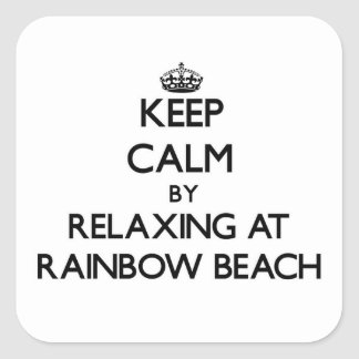 Keep calm by relaxing at Rainbow Beach Illinois Sticker