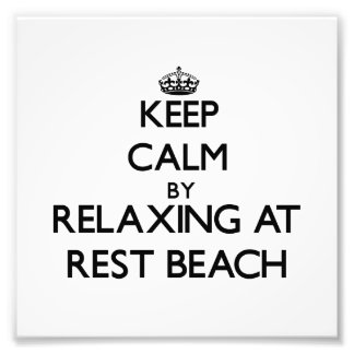 Keep calm by relaxing at Rest Beach Florida Photo Print