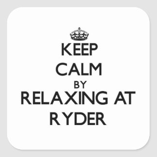Keep calm by relaxing at Ryder Massachusetts Square Sticker