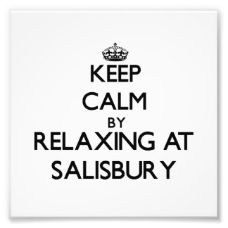 Keep calm by relaxing at Salisbury Massachusetts Photographic Print