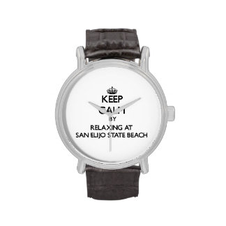 Keep calm by relaxing at San Elijo State Beach Cal Wrist Watches