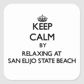 Keep calm by relaxing at San Elijo State Beach Cal Square Sticker