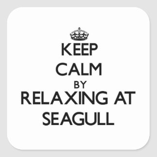 Keep calm by relaxing at Seagull Massachusetts Square Sticker