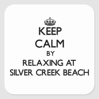 Keep calm by relaxing at Silver Creek Beach Wiscon Sticker