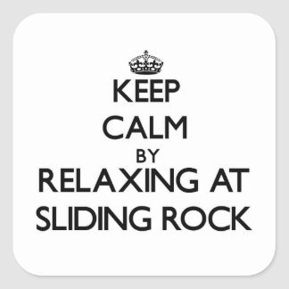Keep calm by relaxing at Sliding Rock Samoa Stickers