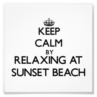 Keep calm by relaxing at Sunset Beach Florida Art Photo