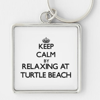 Keep calm by relaxing at Turtle Beach Florida Key Chains
