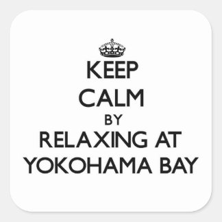 Keep calm by relaxing at Yokohama Bay Hawaii Stickers
