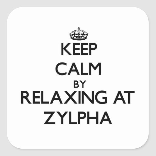 Keep calm by relaxing at Zylpha Massachusetts Square Sticker