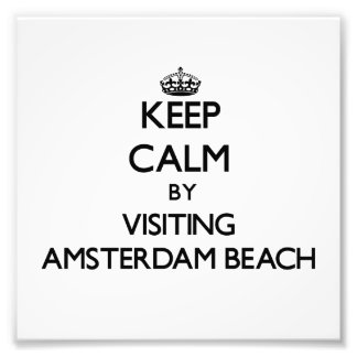 Keep calm by visiting Amsterdam Beach Wisconsin Art Photo
