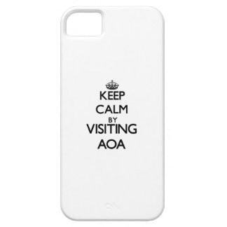 Keep calm by visiting Aoa Samoa iPhone 5 Cases