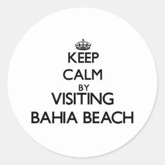 Keep calm by visiting Bahia Beach Florida Sticker
