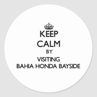 Keep calm by visiting Bahia Honda Bayside Florida Round Stickers