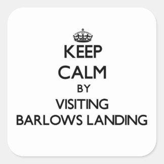Keep calm by visiting Barlows Landing Massachusett Square Sticker