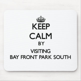 Keep calm by visiting Bay Front Park South Florida Mouse Pads