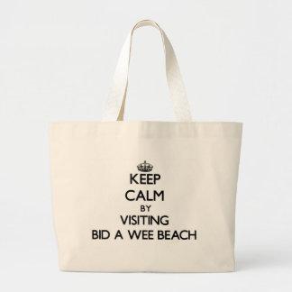 Keep calm by visiting Bid-A-Wee Beach Florida Canvas Bags