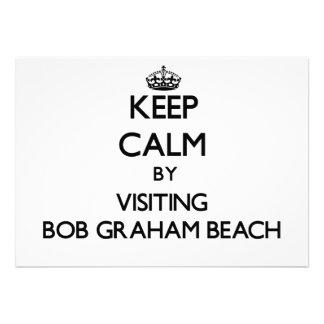 Keep calm by visiting Bob Graham Beach Florida Invitation
