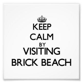 Keep calm by visiting Brick Beach New Jersey Photo Art