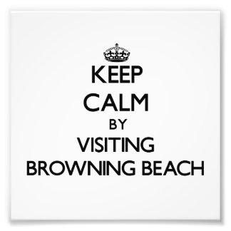 Keep calm by visiting Browning Beach Rhode Island Photo Art