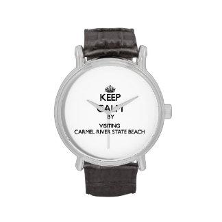 Keep calm by visiting Carmel River State Beach Cal Watches