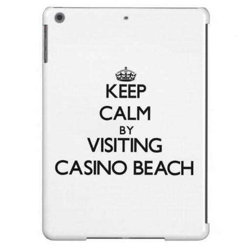 Keep calm by visiting Casino Beach Florida iPad Air Cover