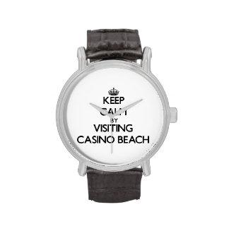 Keep calm by visiting Casino Beach Florida Wrist Watches
