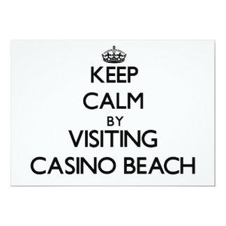 "Keep calm by visiting Casino Beach Florida 5"" X 7"" Invitation Card"