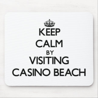 Keep calm by visiting Casino Beach Florida Mouse Pad