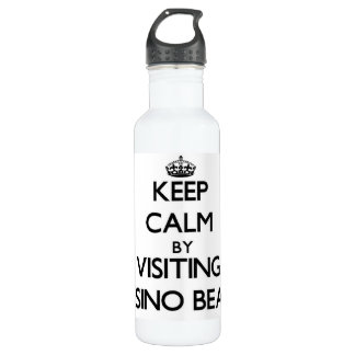 Keep calm by visiting Casino Beach Florida 710 Ml Water Bottle