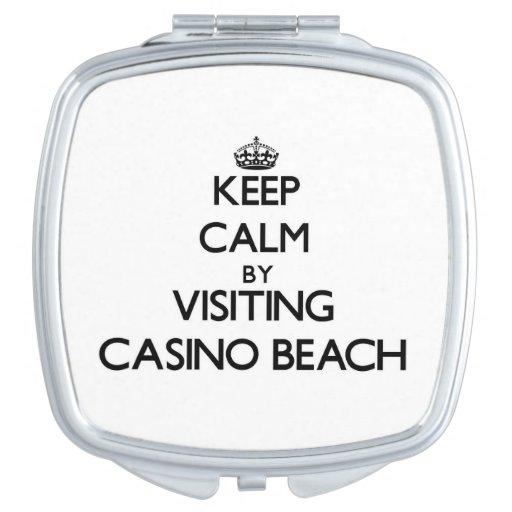 Keep calm by visiting Casino Beach Florida Travel Mirrors