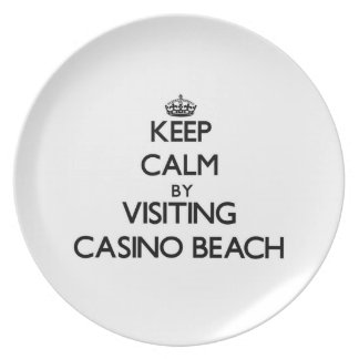 Keep calm by visiting Casino Beach Florida Party Plates