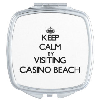 Keep calm by visiting Casino Beach Florida Vanity Mirrors