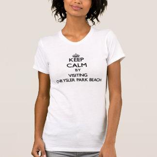 Keep calm by visiting Chrysler Park Beach Michigan Tshirts