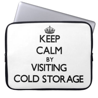 Keep calm by visiting Cold Storage Massachusetts Laptop Sleeves