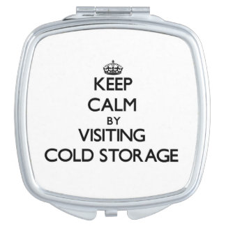 Keep calm by visiting Cold Storage Massachusetts Travel Mirror